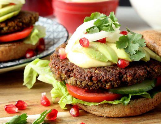 Vegane Linsen-Burger