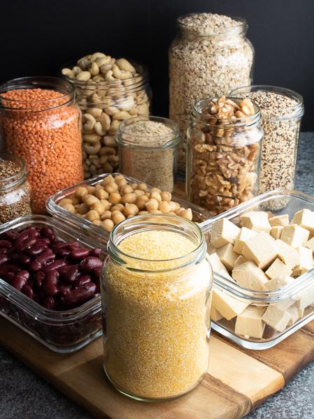 Vegane Proteinquellen - Maisgrieß / Polenta