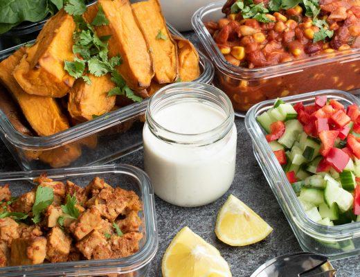 Eiweißreicher Meal Prep Plan